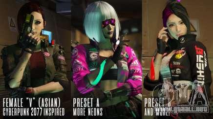 Cyberpunk Custom Female Ped para GTA 5