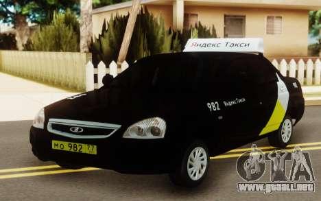 Lada Priora Taxi Yandex para GTA San Andreas