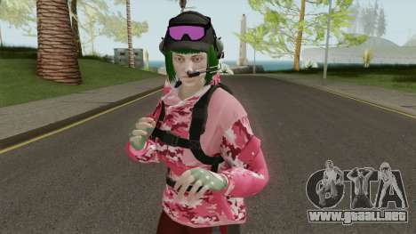 R6S Ela with Christmas Outfit (GTA Online MP) para GTA San Andreas