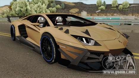 Lamborghini Aventador TZR R-Tech v1 para GTA San Andreas