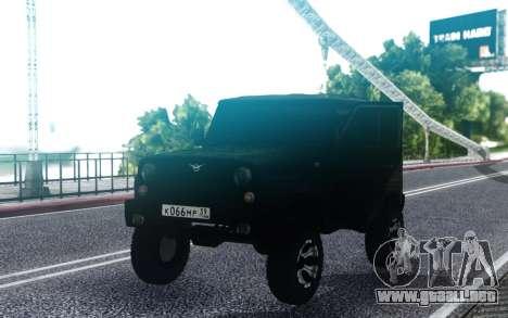UAZ hunter Trineo FSB para GTA San Andreas