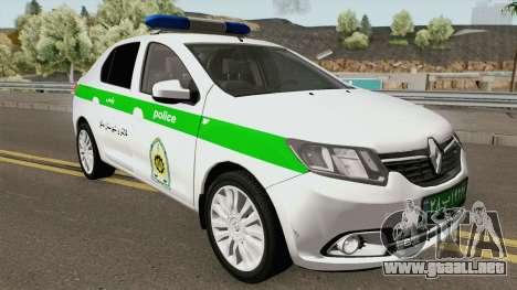 Renault Logan 2016 Policia Iranian para GTA San Andreas