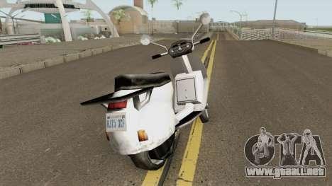 Faggio LE para GTA San Andreas