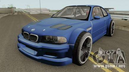 BMW M3 E46 GTR Most Wanted (2012 Style) V1 2001 para GTA San Andreas