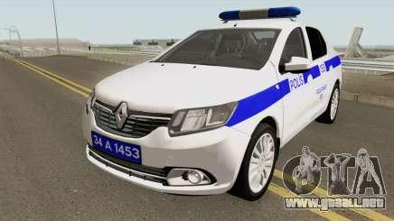La Policía Turca Coche Renault Logan para GTA San Andreas