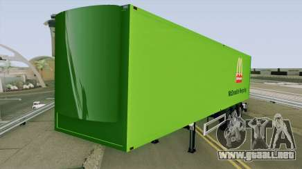 McDonald Recycling Trailer para GTA San Andreas