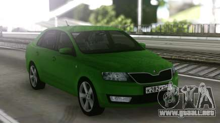 Skoda Rapid Green para GTA San Andreas