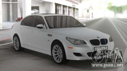 BMW M5 E60 Clear White para GTA San Andreas
