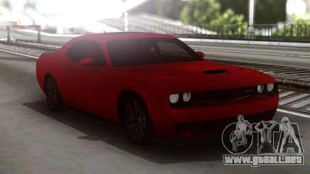 Dodge Challenger SRT Red para GTA San Andreas
