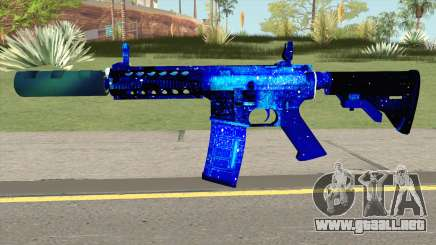 M4A1 Blue Space Silenced para GTA San Andreas