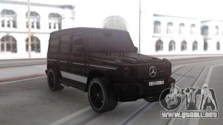 Mercedes-Benz G63 Black Offroad para GTA San Andreas