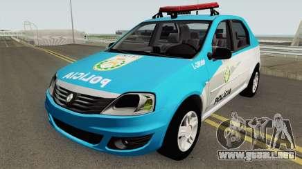 Renault Logan 2011 PMERJ para GTA San Andreas