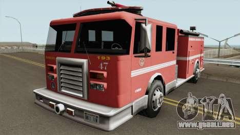 Firetruk Bombeiros SP (MG) para GTA San Andreas