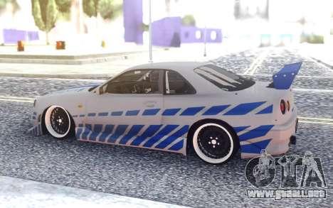 Nissan Skyline R34 FnF para GTA San Andreas