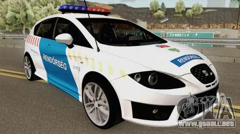 Seat Leon Cupra Magyar Rendorseg (Fixed) para GTA San Andreas