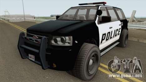 Vapid Prospector Police V2 GTA V para GTA San Andreas
