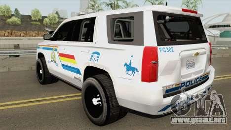 Chevrolet Tahoe San Andreas State Police RCMP para GTA San Andreas