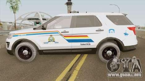 Ford Explorer 2017 SASP RCMP para GTA San Andreas
