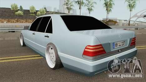 Mercedes S-Klasse W140 1991 SlowDesign para GTA San Andreas