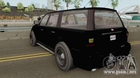 Vapid Prospector FBI V2 GTA V para GTA San Andreas