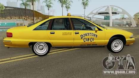 Chevrolet Caprice 1991 Taxi para GTA San Andreas