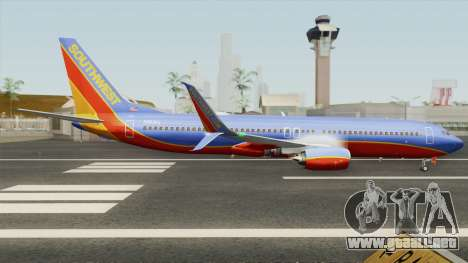Boeing 737-800 Southwest Airlines (Canyon Blue) para GTA San Andreas