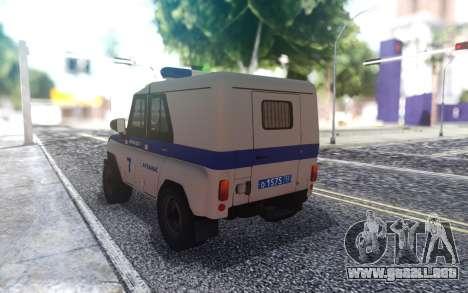 UAZ 31512 de la Policía para GTA San Andreas