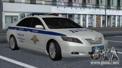 Toyota Camry 2007 MS DPS de la policía de tráfic para GTA San Andreas