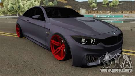 BMW M4 2014 SlowDesign (Red Wheels) para GTA San Andreas