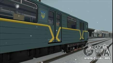 Metrovagon Ема502 7182 Kiev para GTA San Andreas