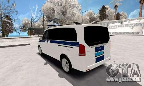 Mercedes Benz Vito Policía para GTA San Andreas