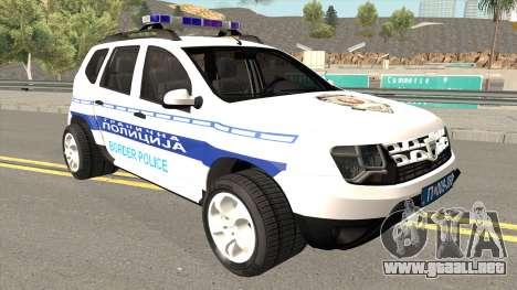 Dacia Duster Serbian Border Police para GTA San Andreas