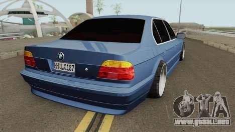BMW E38 750iL SlowDesign 1999 para GTA San Andreas
