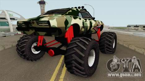 Pontiac Firebird Camo Shark Monster Truck 1968 para GTA San Andreas