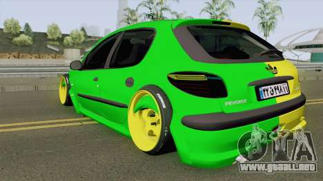 Peugeot 206 Two Face para GTA San Andreas