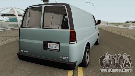 Vapid Speedo GTA V para GTA San Andreas