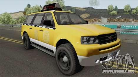 Vapid Prospector Taxi V2 GTA V IVF para GTA San Andreas