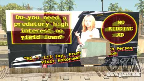 Lil Tay Billboard para GTA San Andreas
