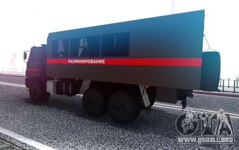 КavАЗ 45143 de Desminado de la policía Militar para GTA San Andreas