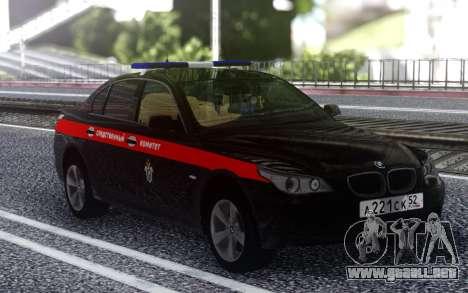 El BMW M5 E60, el Comité de Investigación de la  para GTA San Andreas