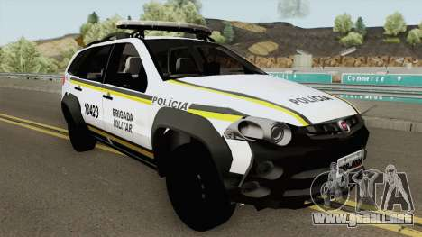 Fiat Palio Weekend Brazilian Police (White) para GTA San Andreas