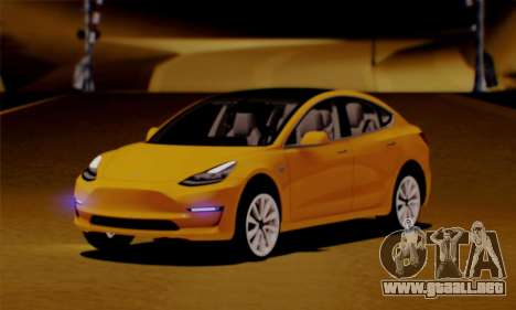 Tesla Model 3 para GTA San Andreas
