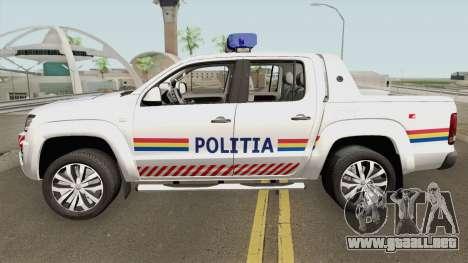 Volkswagen Amarok V6 - Politia Romana 2018 para GTA San Andreas