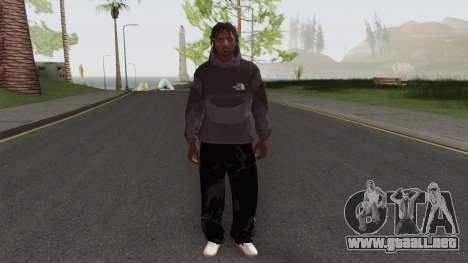 The North Face Black Guy para GTA San Andreas