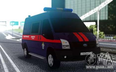 Ford Transit Comité de Investigación de la Feder para GTA San Andreas