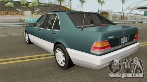 Mercedes-Benz S-Class (W140) 300SD 1992 US-Spec para GTA San Andreas