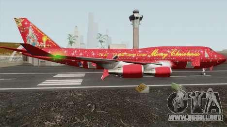 Boeing 747-400 Christmas para GTA San Andreas