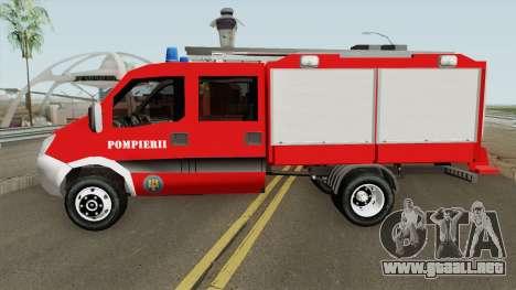 Iveco Daily Mk4 - Autospeciala Pompieri 2008 para GTA San Andreas