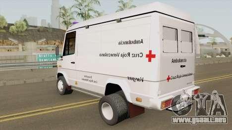 Mercedes-Benz Vario 512D Ambulancia Venezuela para GTA San Andreas