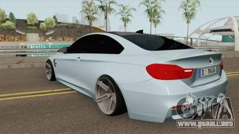 BMW M4 2014 SlowDesign (Black Wheels) para GTA San Andreas